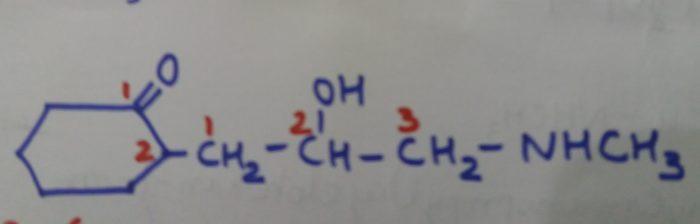 2-(2-Hydroxy -3-methylaminopropyl)cyclohexan-1-one