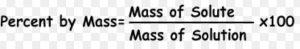 mass percent