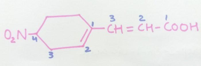 3-4(-Nitrocyclohex-1-en-1-yl)prop-2-en-1-oic cid