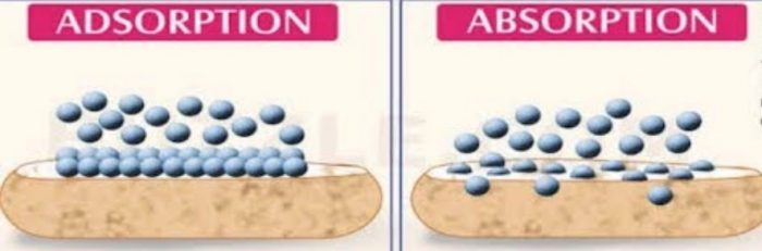 Difference between Adsorption and Absorption