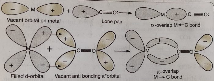 Bonding in metal carbonyls