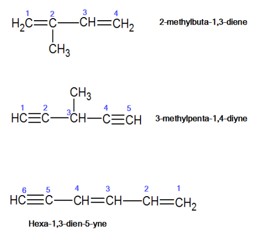 Both double and triple bond are present