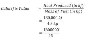 Calorific value numerical