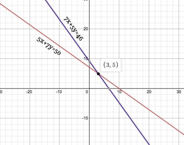 Chapter 3 Linear Equations Exercise 3.2 - Ans 1 (ii)