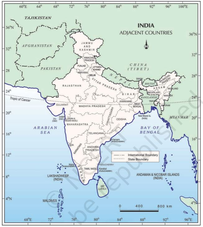Class 9 Geography Chapter 1 India-Size and Location
