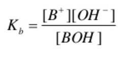 Dissociation of weak base