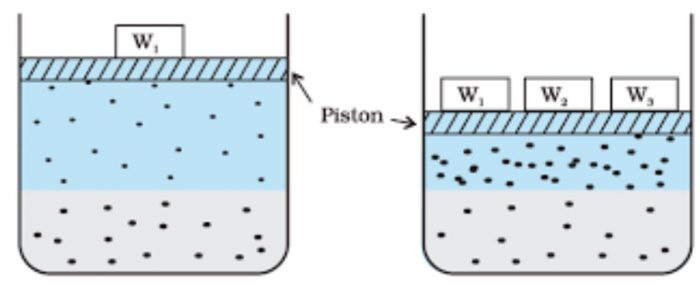 Effect of pressure on the solubility of a gas