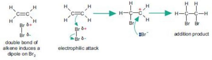 Electrophilic addition reaction