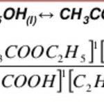 Equilibrium constant for reaction between acetic acid and ethanol