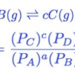 Equilibrium constant in terms of partial pressure