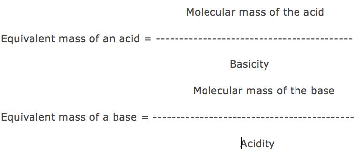 Equivalent mass