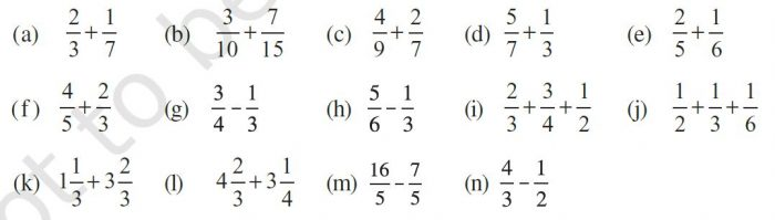 Ex 7.6 Class 6 Maths Question 1
