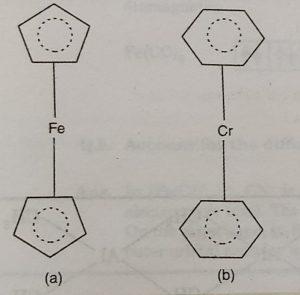 Ferrocene and Dibenzene chromium