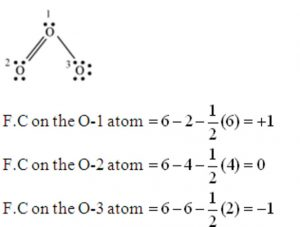 Formal charge on ozone molecule