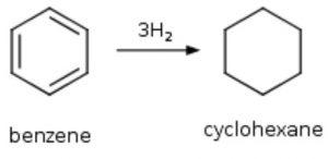 Hydrogenation of benzene