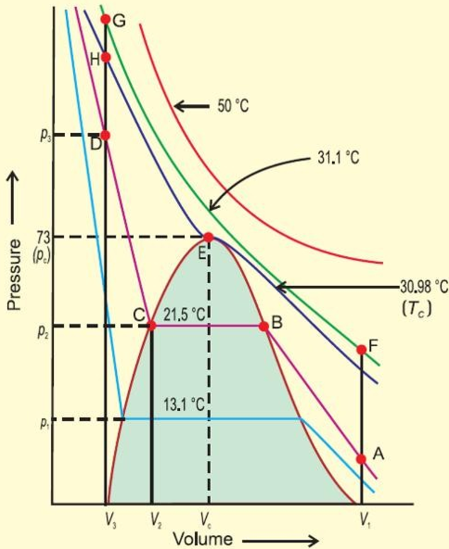 Isotherms of CO2