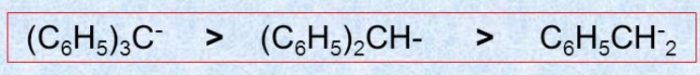More the phenyl group, greater is the stability