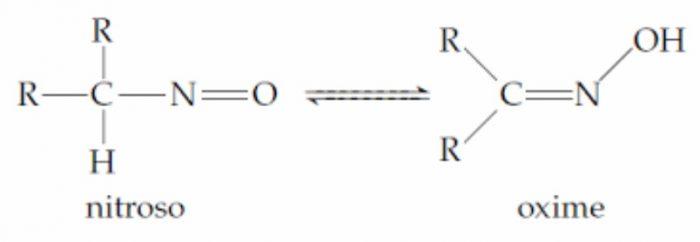 Nitroso-oximino tautomerism