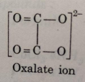 Oxalate ion