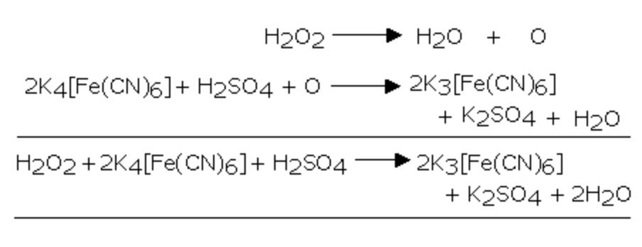 Potassium ferrocyanide to potassium ferricyanide