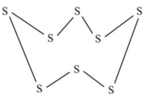Puckered ring structure of sulphur
