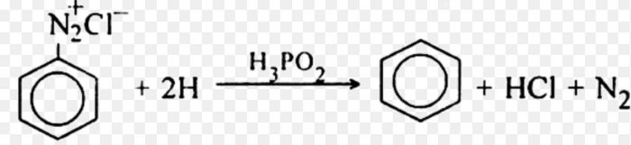 Reduction of benzenediazonium chloride