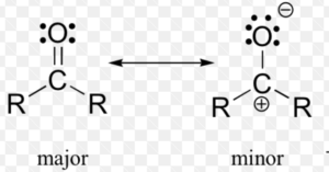 Resonating structure of ketone