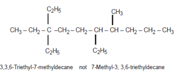 Same alkyl group occurs twice