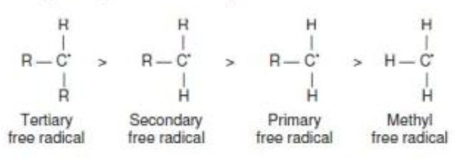 Stability of free radical