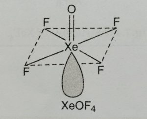 Structure of XeOF4