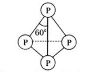 Structure of white phosphorus