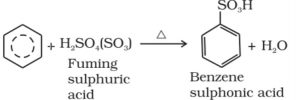 Sulphonation of benzene