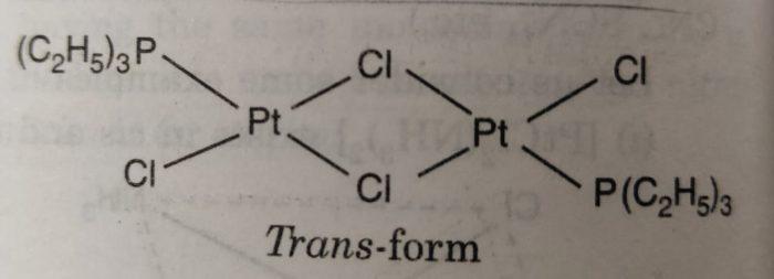 Trans [PtCl2 P(C2H5)3]2