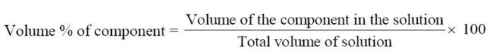 Volume percentage