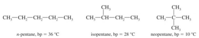 boiling point of pentane