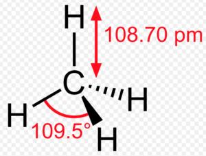 bond length and bond angle in methane