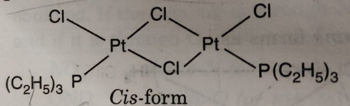 cis [PtCl2 P(C2H5)3]2