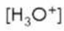 conc of hydronium ion