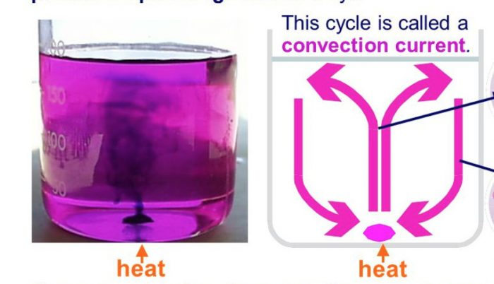 convection current in potassium permanganate solution