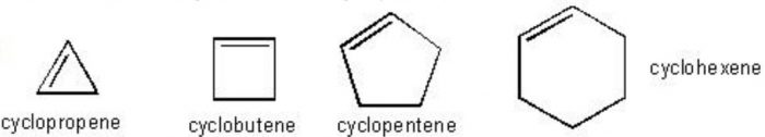 example of cycloalkene