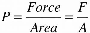formula of pressure