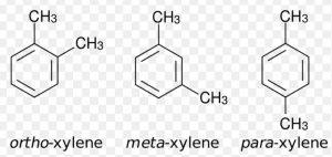 o,p and m-xylene