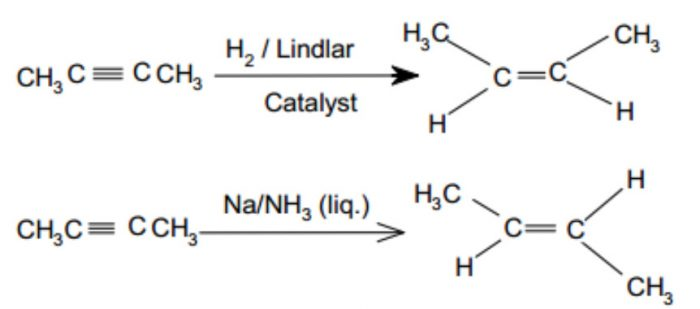 partial reduction of alkynes