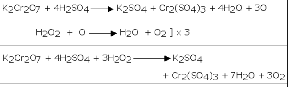reaction with potassium dichromate