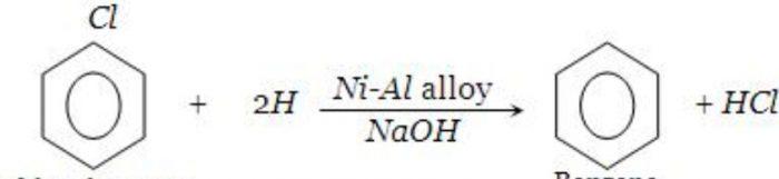 reduction of chlorobenzene